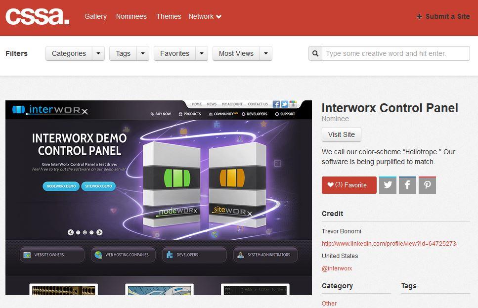 InterWorx CSS Award