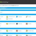 Screenshot -- InterWorx big menu