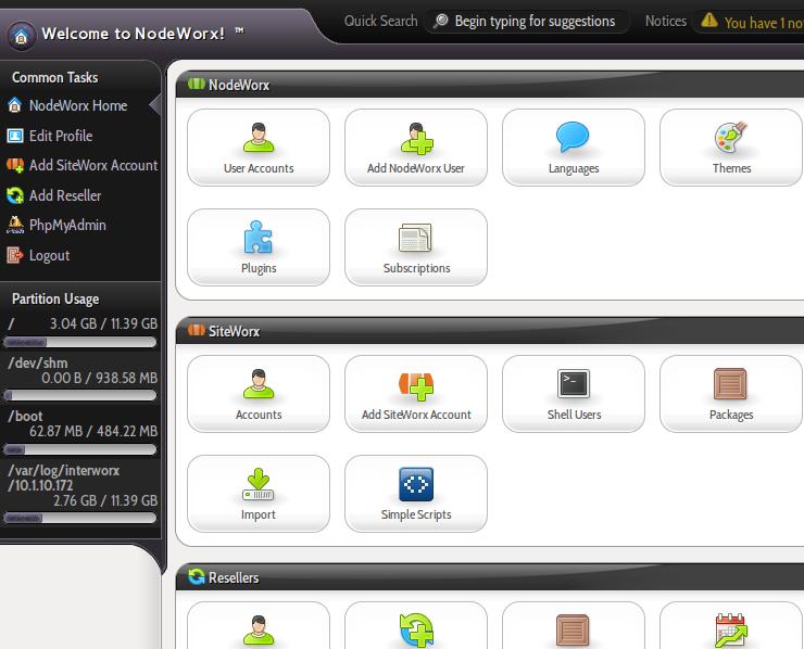 InterWorx 5.0 Heliotrope theme